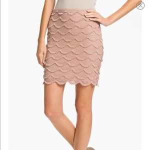 Sanctuary 'Claudia' Layered Scallop Lace Skirt
